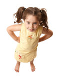 Little girl with attitide hands on hips Royalty Free Stock Images