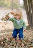 Little Girl in Autumn Royalty Free Stock Photos