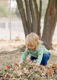 Little Girl in Autumn Royalty Free Stock Photo