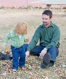 Little Girl in Autumn Royalty Free Stock Photos