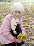 Little girl in autumn Stock Image