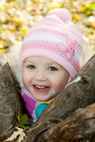 Little girl in autumn Stock Photo