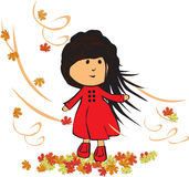 Little girl in autumn Royalty Free Stock Images