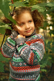 Little girl in the autumn park Royalty Free Stock Images