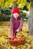 Little girl in autumn park Royalty Free Stock Photos