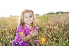 Little girl autumn portrait Royalty Free Stock Images