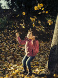Little girl autumn portrait Royalty Free Stock Photos