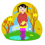 Little girl and autumn. Royalty Free Stock Photography