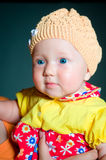 Little girl baby with blue eyes Stock Photo