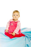 Little girl baby in a dress Stock Photography