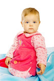 Little girl baby in a dress Royalty Free Stock Photo