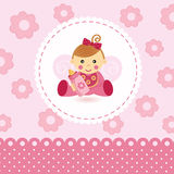 Little girl baby vector Stock Images