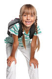 Little girl with backpack Stock Photography