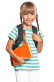 Little girl with backpack Royalty Free Stock Image