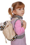 Little girl with bag Royalty Free Stock Photos