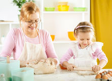 Little girl baker Royalty Free Stock Images