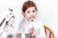 Little girl baking Royalty Free Stock Photography