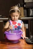 Little Girl Baking Cookies Stock Photography