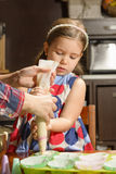 Little Girl Baking Cookies Stock Images