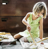 Little Girl Baking Cookies Concept Royalty Free Stock Photos