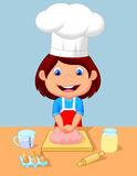 Little girl baking. Illustration of Little girl baking stock illustration