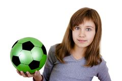 A little girl with the ball Royalty Free Stock Photography