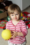 Little girl with a ball Royalty Free Stock Photos