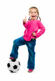 Little girl  with the ball Stock Images