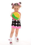 Little girl with the ball Royalty Free Stock Images