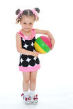 Little girl with the ball Stock Photography