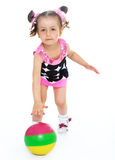 Little girl with a ball. Royalty Free Stock Photography