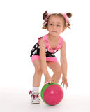 Little girl with the ball Stock Photo
