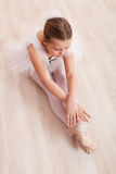 Little girl ballerina dance and performance Royalty Free Stock Image