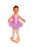 Little Girl Ballerina in Pointe Shoes Stock Image