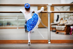 Little girl ballerina practicing Stock Photos