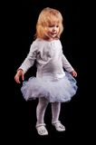 Little girl in ballerina role Royalty Free Stock Images