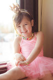 A little girl with ballet costume Royalty Free Stock Photo