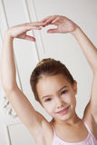 Little girl in a ballet pose Royalty Free Stock Image