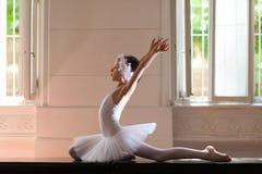 Little girl in ballet position Stock Photos
