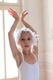 Little girl in ballet position Stock Photography