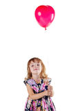 Little girl with a balloon Royalty Free Stock Photography