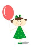 Little girl with balloon Royalty Free Stock Images