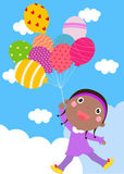 Little girl and balloon Royalty Free Stock Image