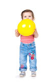 Little girl with a balloon Royalty Free Stock Photos