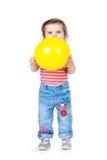 Little girl with a balloon Royalty Free Stock Photos