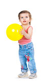 Little girl with a balloon Stock Photography