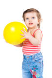 Little girl with a balloon Royalty Free Stock Image