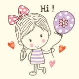 Little Girl with Balloon Royalty Free Stock Photos
