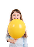 Little Girl with Balloon Stock Photography