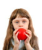 Little Girl with Balloon Royalty Free Stock Photo